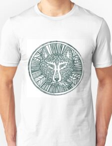 Wolf head. Native american style. Ethnic animals illustration.  Unisex T-Shirt