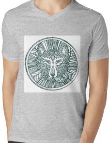 Wolf head. Native american style. Ethnic animals illustration.  Mens V-Neck T-Shirt