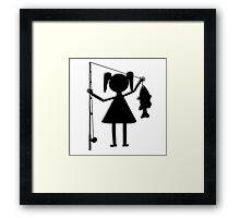 Reel Girl's Fish Framed Print