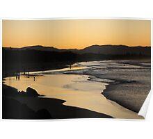shiney sand beach Poster