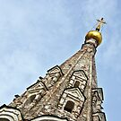 Bell tower detail. One of the churches in Ryazan's  Kremlin. by Valentina Walker
