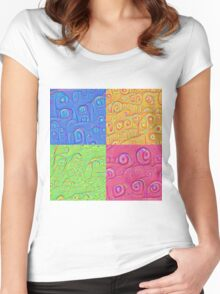 Deep Dreaming of a Color World 3K Women's Fitted Scoop T-Shirt