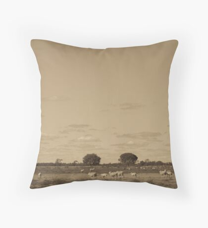 on the sheep's back Throw Pillow