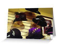 hat shop Greeting Card