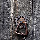 Church Door Handle, of Harleston St John Church in Norfolk UK. by Karen  Betts