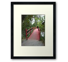 Red Path Framed Print
