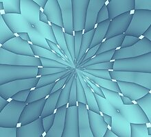 Blue and Turquoise Metallic Star by Lena127