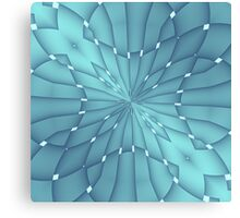 Blue and Turquoise Metallic Star Canvas Print
