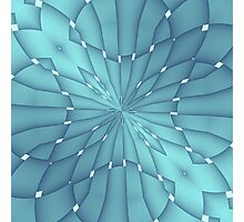 Blue and Turquoise Metallic Star Photographic Print