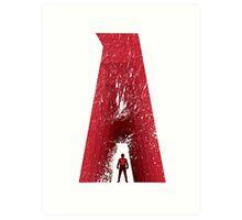Superhero Alphabet : A Art Print