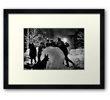 Mayor Lindsay's Snow Storm Part Two Framed Print