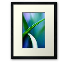 Overlap Green Framed Print