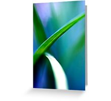 Overlap Green Greeting Card