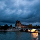 Scene From The Seine Paris France by MiImages