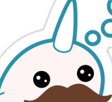 Cute Mustache Narwhal Sticker