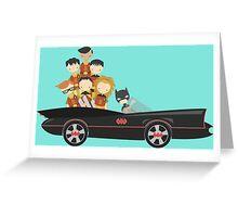 Batfamily on a Road Trip Greeting Card