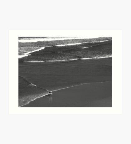 Man And The Ocean Art Print