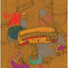 my yellow bus by Shylie Edwards