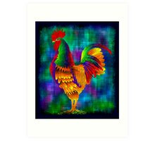 Colourful Rooster 1 Art Print