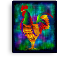 Colourful Rooster 1 Canvas Print