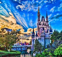 Cinderella Castle at Sunset by jjacobs2286