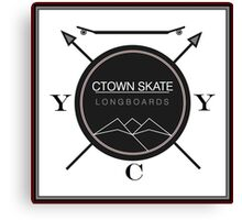 C. Town Skate Coat of Arms Canvas Print