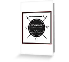 C. Town Skate Coat of Arms Greeting Card
