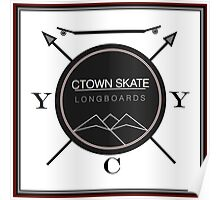 C. Town Skate Coat of Arms Poster