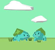 Low Poly Bulbasaurs by SylviaChambers