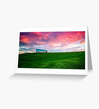 Sunset Over Arboretum Greeting Card