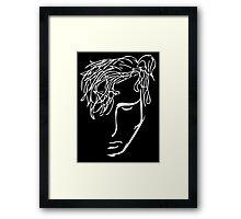 rowan - black Framed Print