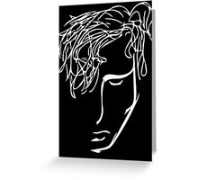 rowan - black Greeting Card