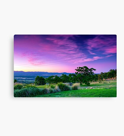 A Stromlo Sunset Canvas Print