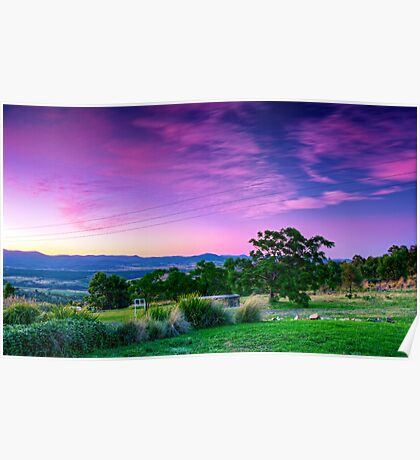 A Stromlo Sunset Poster