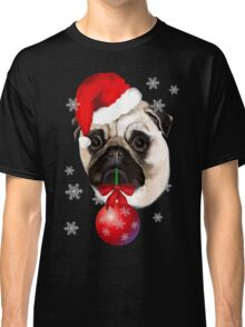 Merry Christmas Pug Classic T-Shirt