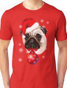 Merry Christmas Pug Unisex T-Shirt