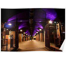 ~ Granary Wharfe, Leeds, Floodlit In Purple ~ Poster