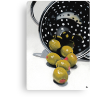 Olives in a Colander Canvas Print