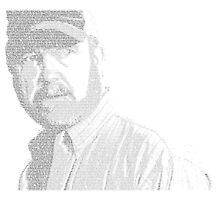 Bobby Singer Text Portrait by shutterbug1984