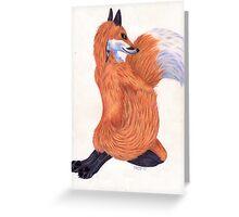 Anthro Fox Greeting Card
