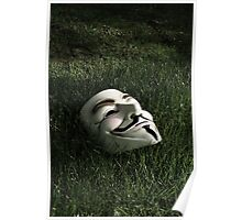 Mask in Grass Poster