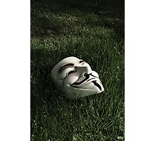 Mask in Grass Photographic Print
