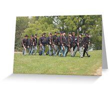 Civil War Reenactment Greeting Card