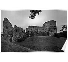 Pevensey Castle as the Storm Brews Poster