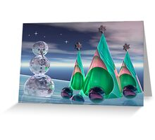 Icy christmas card Greeting Card
