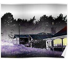Spooky Old verandah Lodge Poster