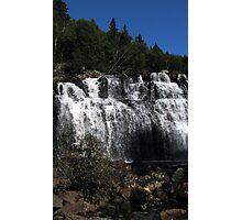 top of Mink Falls creek - Marathon Ontario Photographic Print