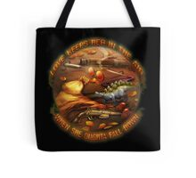 Love Keeps Her In The Air Tote Bag