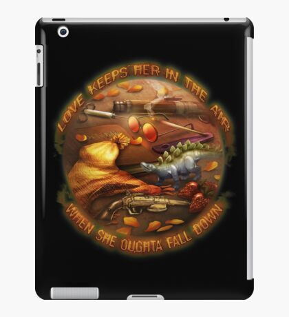 Love Keeps Her In The Air iPad Case/Skin