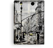 one day in N.Y. Canvas Print